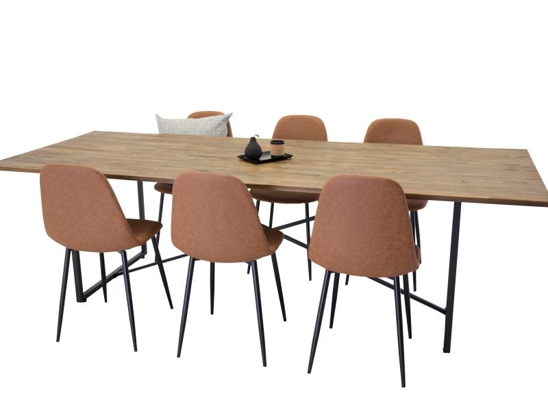 Padang Polar stolová súprava 1+6 (hnedá)