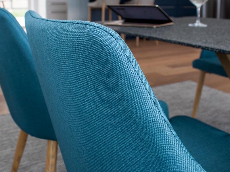 Piazza Plaza stolová súprava 1+6 (spraystone/modrá)